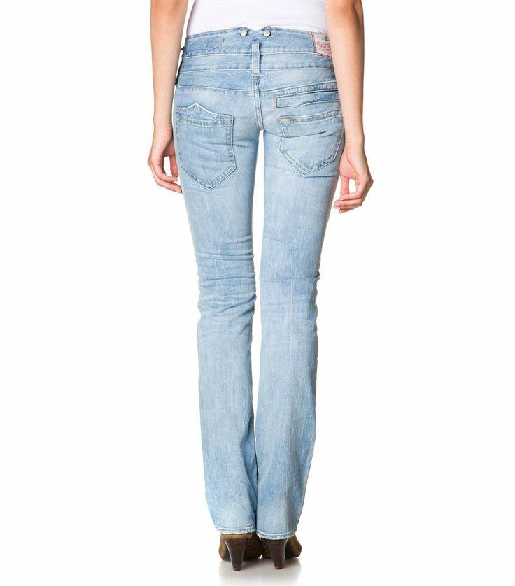 herrlicher pitch light blue jeans back clothes shoes. Black Bedroom Furniture Sets. Home Design Ideas