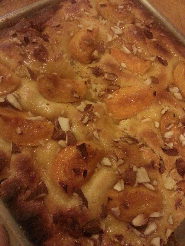 Sweet focaccia with roasted apricots, toasted almonds, and orange ...