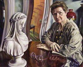 P.D. James  by Michael R. Taylor  oil on canvas, 1996  33 7/8 in. x 41 3/4 in. (860 mm x 1060 mm)  Commissioned, 1996    Writer