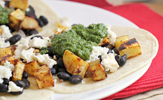 ... And Black Bean Quesadillas With Swiss Chard Pesto Recipes — Dishmaps