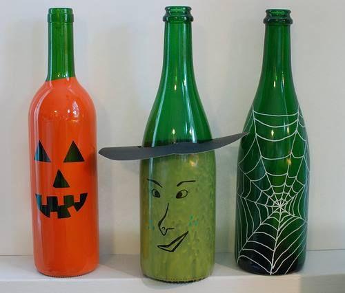 Spooky wine bottles halloween party ideas pinterest