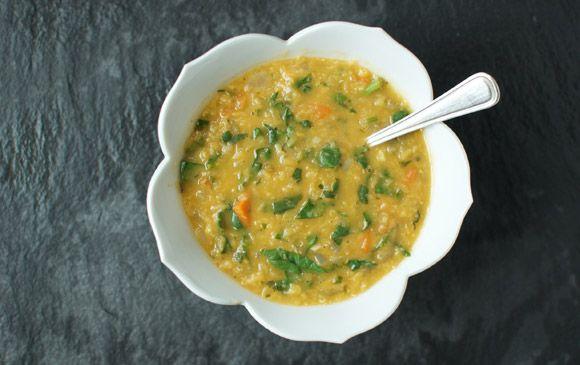 three red lentil recipes: red lentil coconut soup, curried red lentil ...