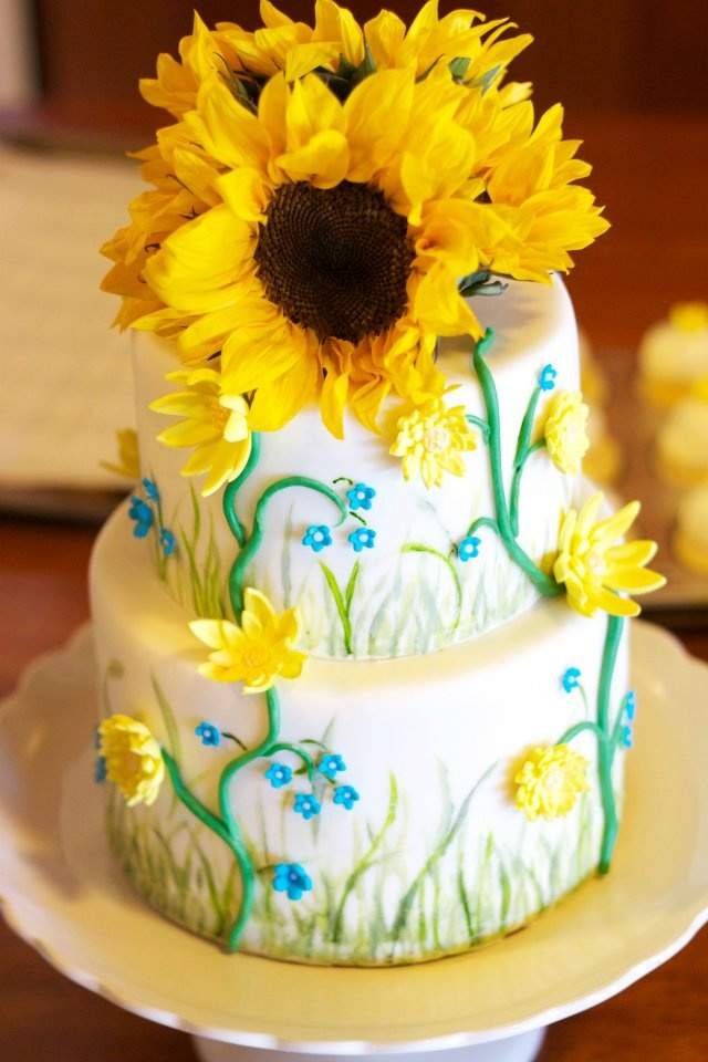 Sunflower cake | Designer/Artistic Cakes - You don't want ...