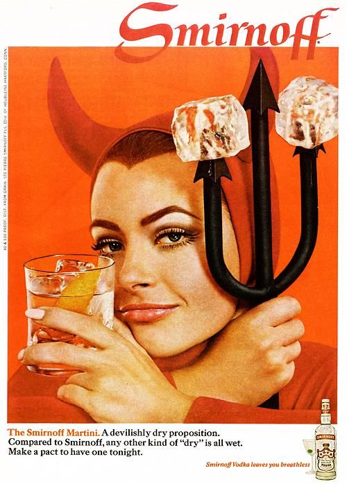1968 Smirnoff Martini advertisement.