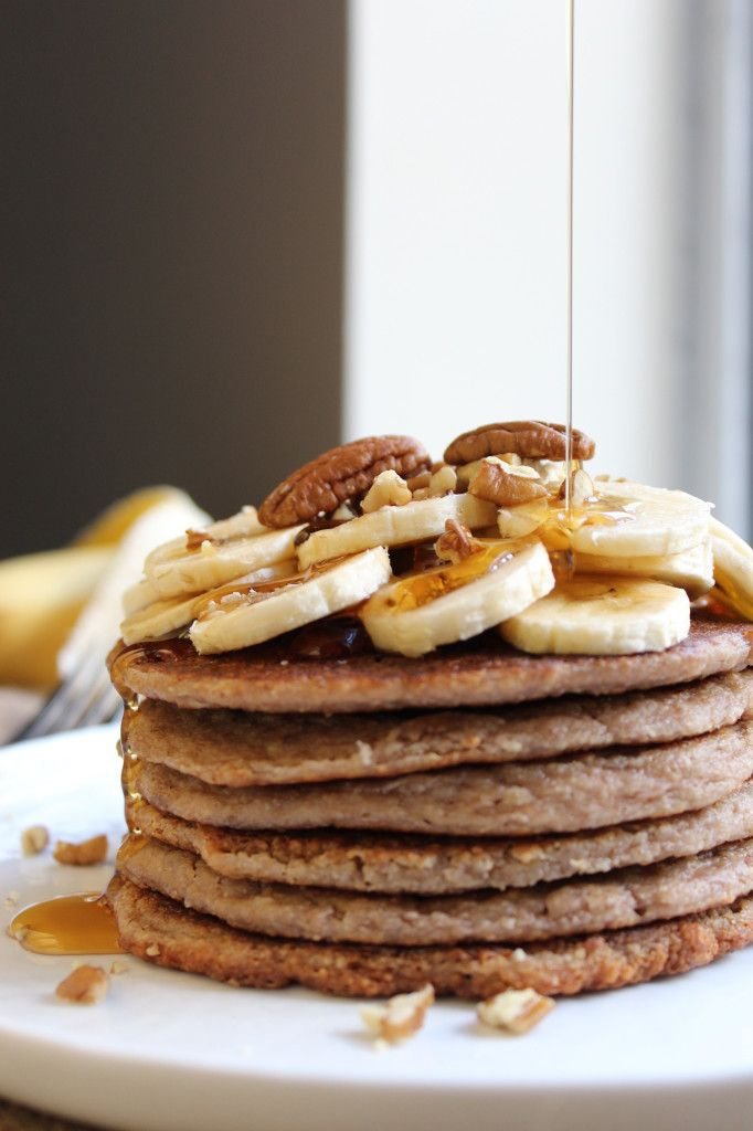 Banana Pecan Pancakes | Food, Drinks & Desserts... | Pinterest