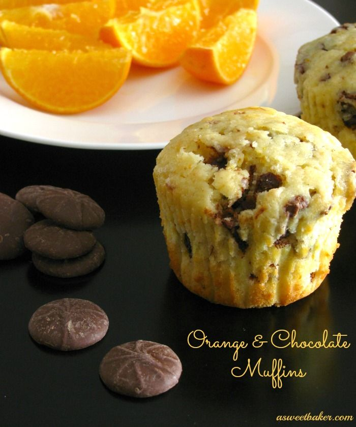Orange Chocolate Muffins | Breakfast | Pinterest