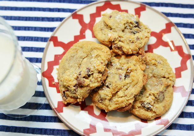 Cherry Chocolate Chunk Chip Cookies (using dried tart cherries ...