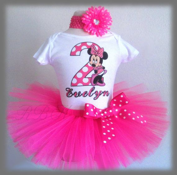 1st, 2nd Birthday, Minnie Mouse Birthday Outfit, Minnie