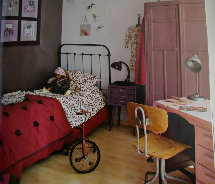 Objets vintage chambre de fille  Chambres denfant  Pinterest