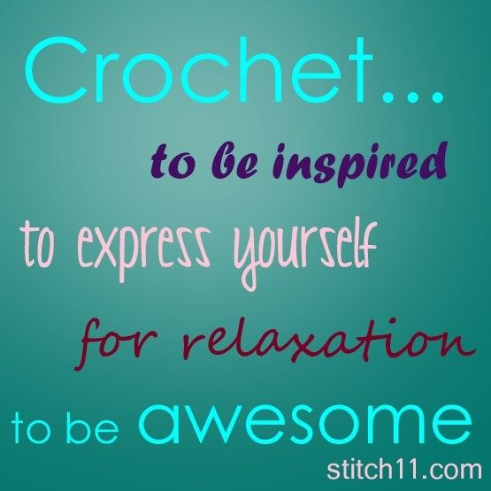 crocheting quotes Crochet Quotes Crochet Pinterest
