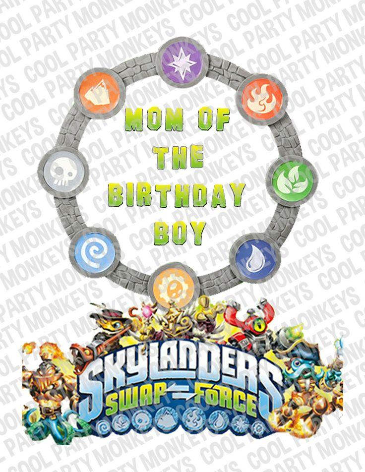 Skylanders swap force mom of birthday boy t shirt iron on transfer d