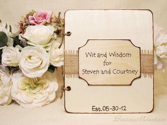 Wood Wedding Guest Book