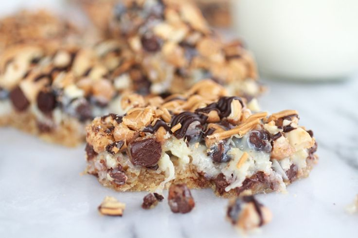 Layer Oatmeal Chocolate Chip Cookie Bars - Half Baked Harvest