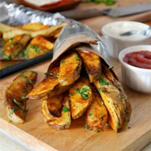 Oven-Baked Potato Wedges | Good Stuff | Pinterest
