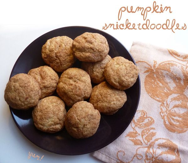 pumpkin snickerdoodles | Cookies | Pinterest