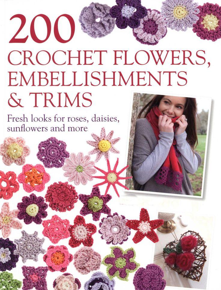 book crochet flowers PDF Patterns Crochet Pinterest
