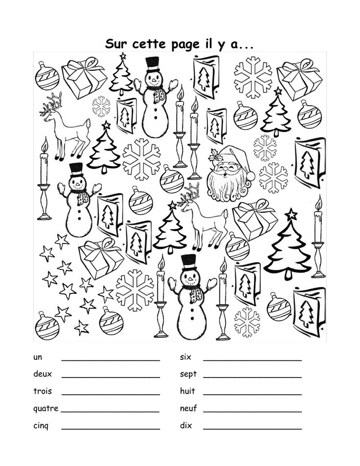 free french christmas coloring pages - photo#22