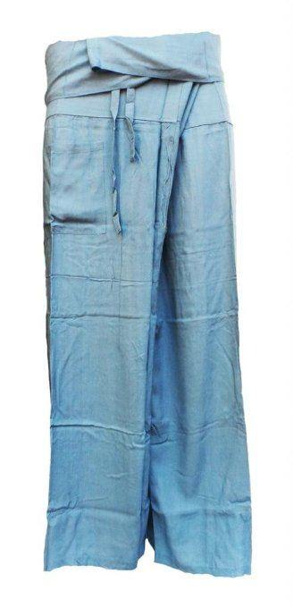 Amazon.com: Candyhusky Adult's Thai Fisherman Wrap Pants 100% Rayon ...
