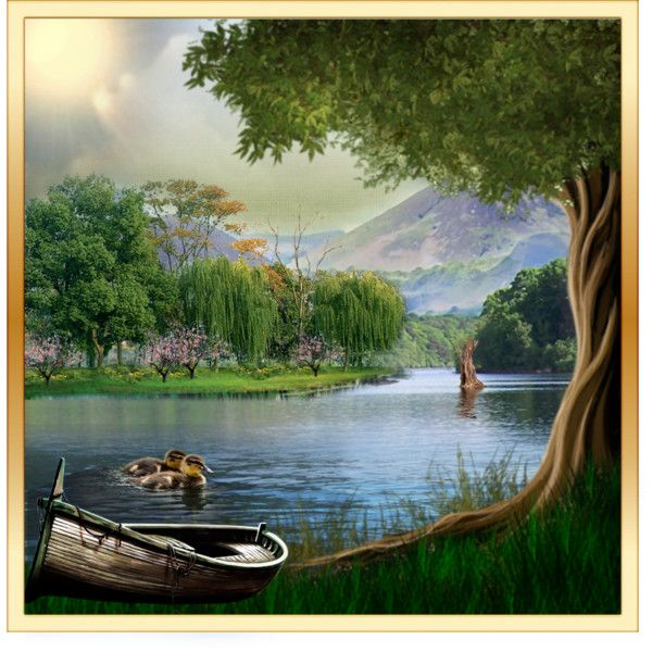 Summer Lake Scene Great Outdoors Pinterest