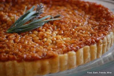 Pine Nut and Lavender Honey Tart | Eat and Drink | Pinterest