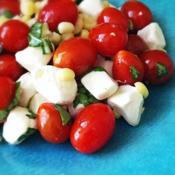 Tomato Corn Caprese Salad | Food - Recipes | Pinterest