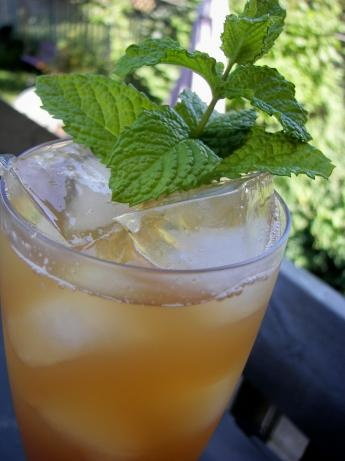 Apple Ginger Mint Iced Tea from Food.com: A great icy cold drink for a ...