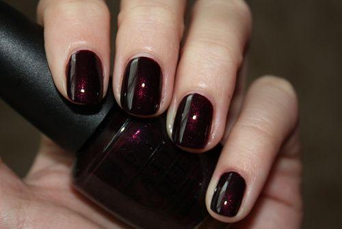 Opi Black Cherry Chutney Nail Swatches Pinterest