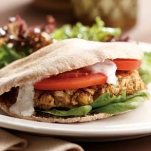 Chickpea Burgers & Tahini Sauce Recipe I got this recipe at http://www ...