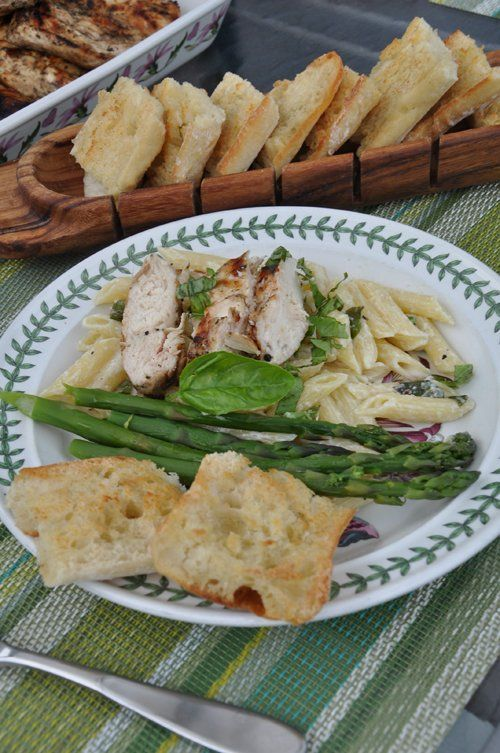 Great recipe for Lemon Basil Pasta with Grilled Chicken | Chicken ...