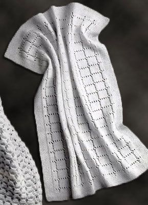 Knitted Carriage Robe Pattern - Get Started Knitting