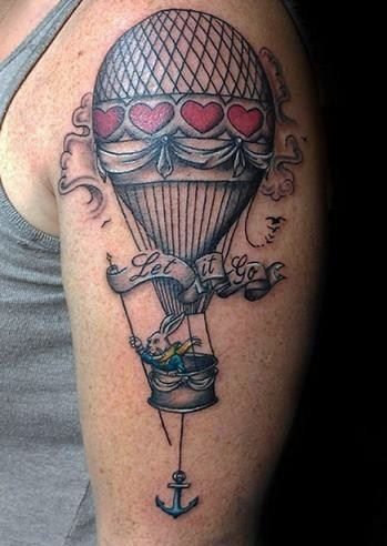 Tatto on 23  Hot Air Balloon Tattoo   Tumblr   Ink