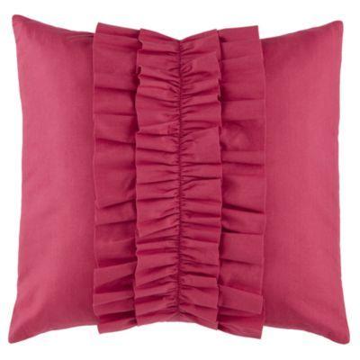 Throw Pillows With Ruffles : Hot Pink Ruffle Pillow
