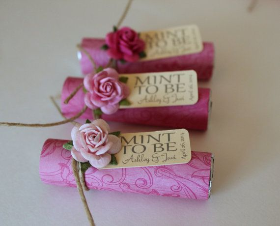 Unique Wedding Gifts Under USD75 : Bridal shower wedding favor Mint to be by BabyEssentialsByMel, USD75.00