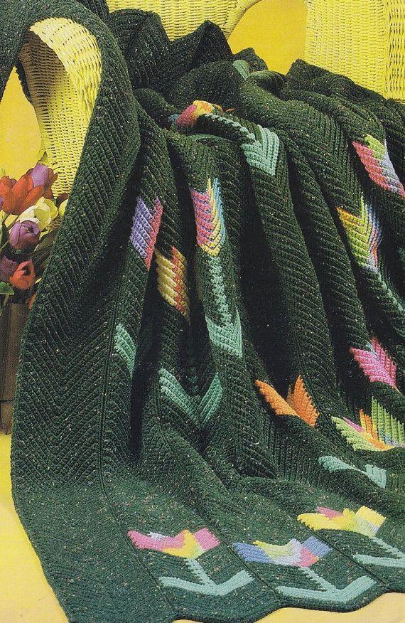Crochet Pattern For Tulip Afghan : Tulips Afghan Crochet Pattern - Heralds of Spring ...