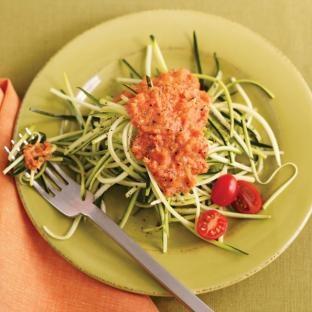 Cherry Tomato Marinara with Zucchini Noodles