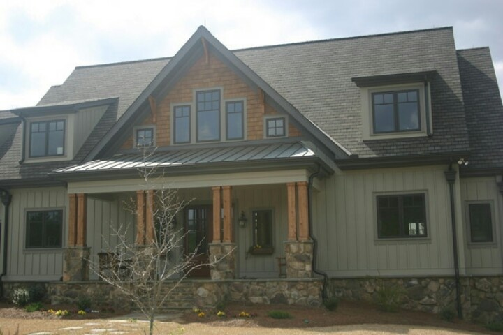 Craftsman Board And Batten With Stone Exterior Pinterest