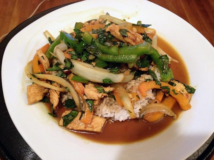 Thai basil chicken etc. | Favorite Recipes | Pinterest