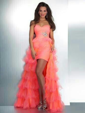 Pink Dress on High Low Pink Prom Dress   Girls Prom