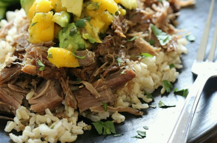 Slow Cooked Jerk Pork With Caribbean Salsa Recipes — Dishmaps