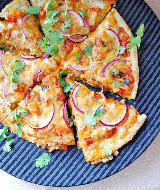 Taco Quesadilla Pizza- my three favorite foods in one... heaven.