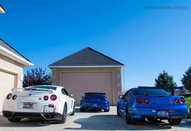 Nissan Skyline R34 and R35