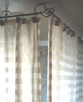 Clawfoot Tub Shower Curtain Rod Bathrooms Pinterest