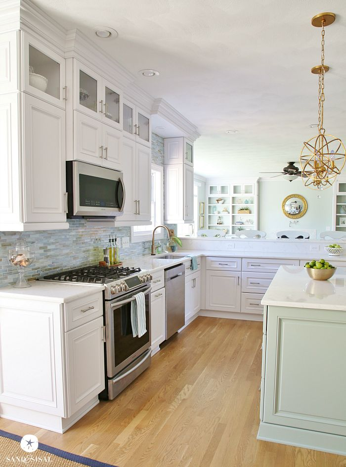 Coastal Kitchen Makeover  the reveal  Sand and Sisal