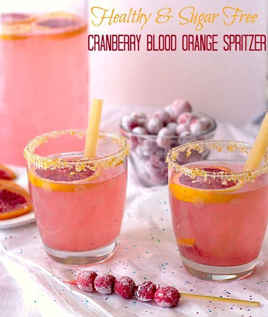 Healthy Cranberry Blood Orange Spritzer Recipe ~ It's Yummi!