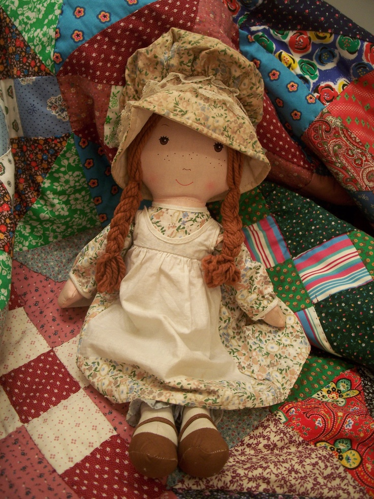 Okay not the last pic because someone cut off her braids   This one <3  Vintage Holly Hobbie rag doll Heather Knickerbocker 1970s. $19.50, via Etsy.