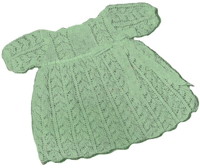 Knitted Baby Dresses Free Patterns : FREE baby dress knit pattern knitting / crochet Pinterest