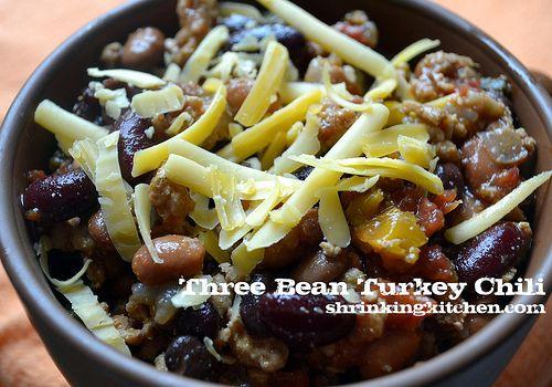 Three Bean Turkey Chili...WW recipe. I made it, and it is quite yummy ...