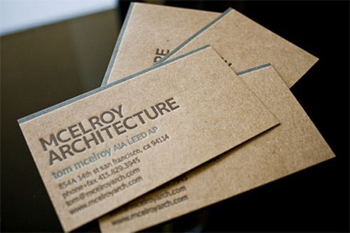 Kraft paper organic business cards