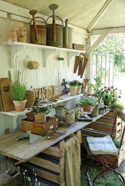 shabby chic potting shed shabby chic garden sheds pinterest