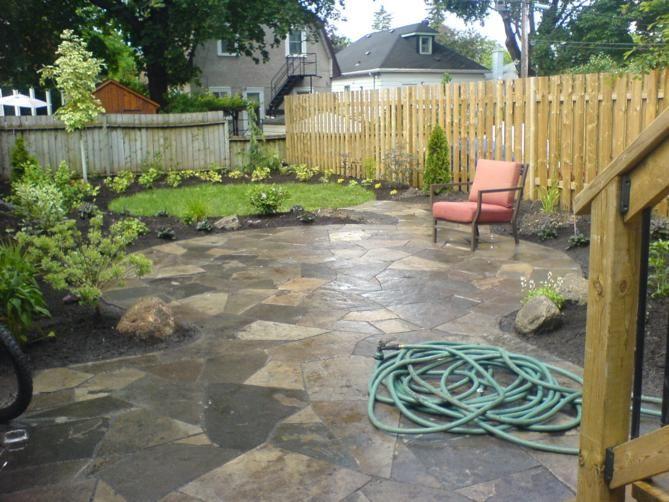 Flagstone patio Outdoor Living